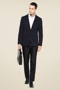 Turtle Navy Solid Blazer
