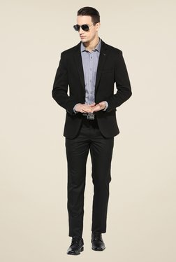 Turtle Black Solid Blazer