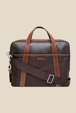 6d86431649cf Viari Lombardy Brown Polyester Briefcase Bag