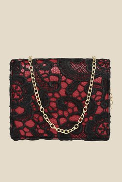 ToniQ Red Textured Sling Bag