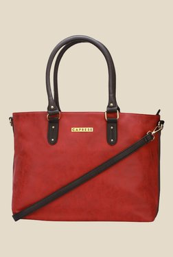 Caprese Darla Red Solid Tote Bag
