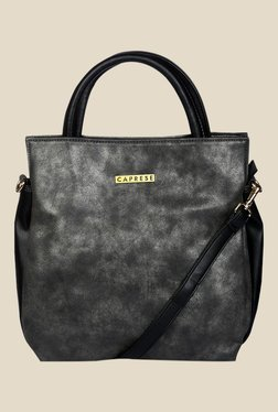 Caprese Hailey Black Solid Tote Bag