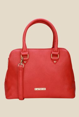 Caprese Darla Red Solid Tote Bag - Mp000000000632825