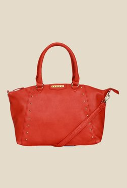 Caprese Shirley Red Solid Tote Bag