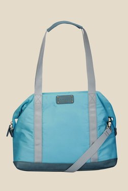 Caprese Lina Blue Nylon Shoulder Bag