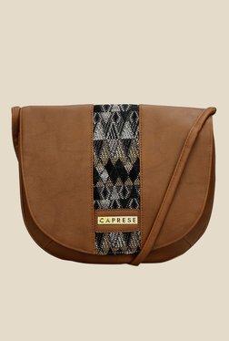 Caprese Romy Brown Solid Sling Bag