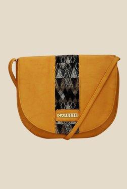 Caprese Romy Yellow Solid Sling Bag