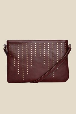 Caprese Nova Brown Solid Sling Bag