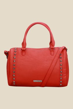 Caprese Greta Red Solid Tote Bag