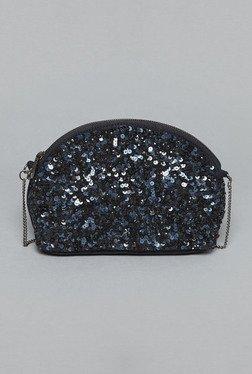 Nuon By Westside Black Sequinned Sling Bag