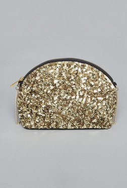 Nuon By Westside Gold Sequinned Sling Bag