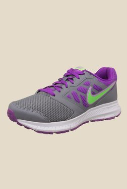 Nike Downshifter 6 MSL Cool Grey & Purple Running Shoes