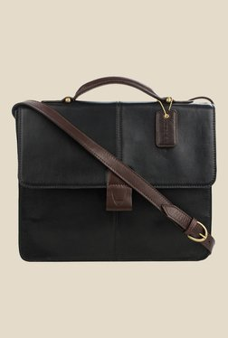 Hidesign Arad 01 Black Leather Messenger Bag
