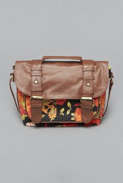 Westside Black Floral Print Willow Satchel