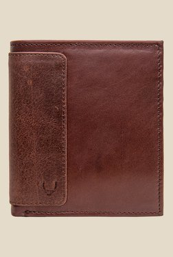 Hidesign 253-L015 Soho Brown Bi-Fold Leather Wallet