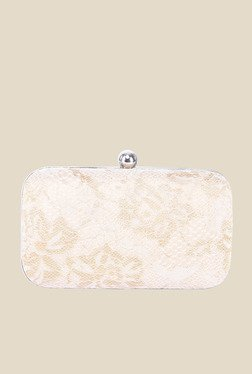 Tarusa Beige Fabric Clutch