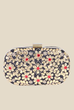 Tarusa Black Art Silk Clutch