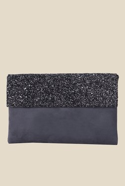 Tarusa Shimmer Flap Navy Clutch