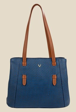 Hidesign Leandra Blue Leather Shoulder Bag