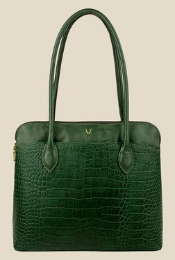 Hidesign Fabiola Green Leather Shoulder Bag