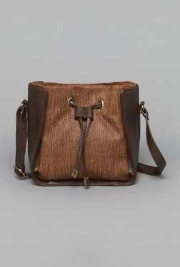 Westside Brown Miley Mini Bucket Sling Bag