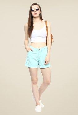 109 F Light Blue Solid Shorts