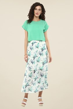 109 F White Floral Print Skirt
