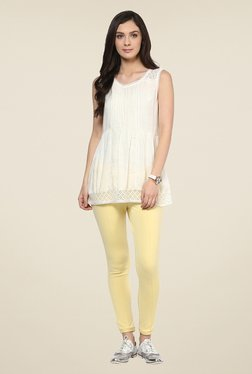 109 F Yellow Solid Pants