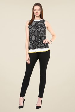109 F White & Black Lace Top