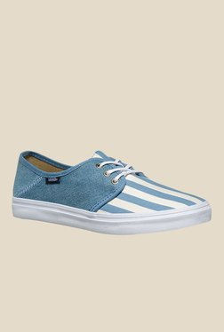 Vans Tazie SF Blue   White Sneakers b5df31f35