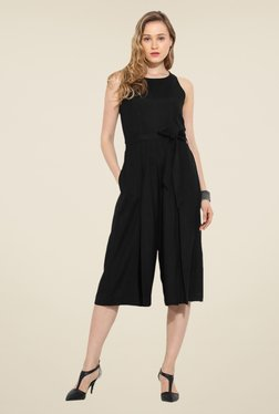 Saiesta Black Solid Jumpsuit