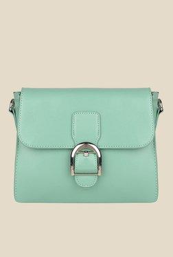 Lino Perros Green Solid Sling Bag