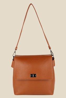 Lino Perros Brown Solid Sling Bag - Mp000000000639511