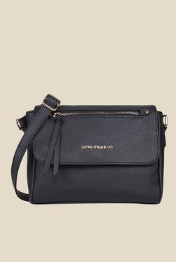Lino Perros Black Solid Sling Bag - Mp000000000639530