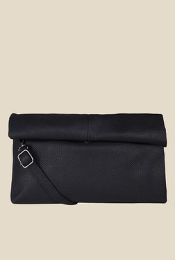 Lino Perros Black Textured Sling Bag - Mp000000000639536