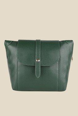 Lino Perros Green Textured Sling Bag