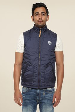 Pepe Jeans Navy Solid Jacket