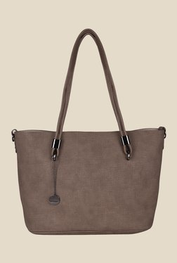 Lino Perros Brown Textured Tote Bag - Pack Of 2
