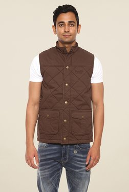 Pepe Jeans Brown Quilted Jacket