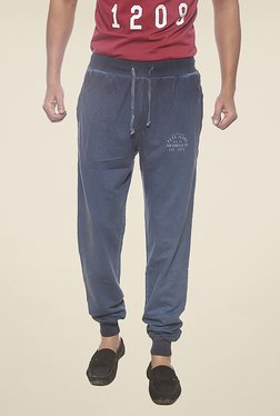 Pepe Jeans Blue Solid Joggers