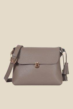 Lino Perros Brown Solid Sling Bag - Mp000000000640368