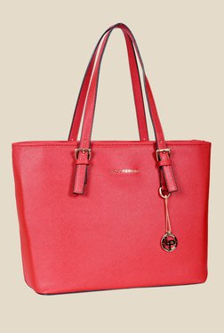 Lino Perros Red Solid Tote Bag - Mp000000000640414