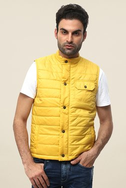 Pepe Jeans Yellow Quilted Jacket