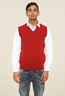 Pepe Jeans Red Solid Sweater