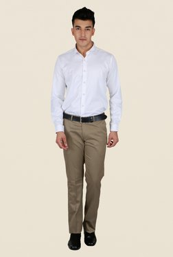 Lawman Beige Solid Trouser