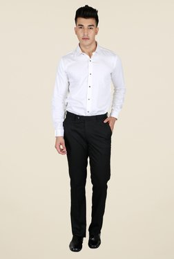 Lawman Black Solid Trouser