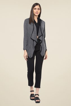 109 F Grey Textured Shrug