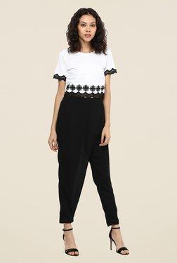 109 F Black Solid Pants