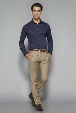 Weststreet By Westside Navy Ultra Slim Fit Shirt