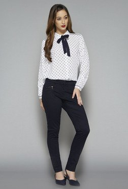 Wardrobe by Westside Off White Polka Dot Karry Blouse